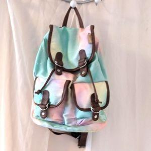 HARPER BEE Neapolitan ice cream coloured backpack